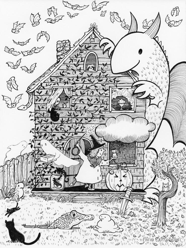 Busy Halloween by ninacrittenden