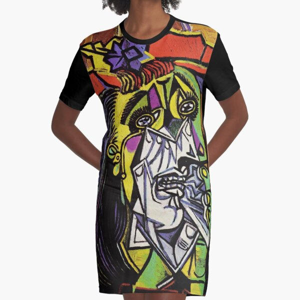 Pablo Picasso Original Fine Art The Weeping Woman Painting HD High Quality Online Store Graphic T-Shirt Dress