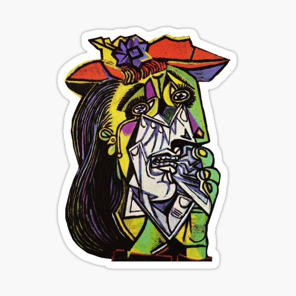Pablo Picasso Original Fine Art The Weeping Woman Painting HD Tienda en línea de alta calidad Pegatina
