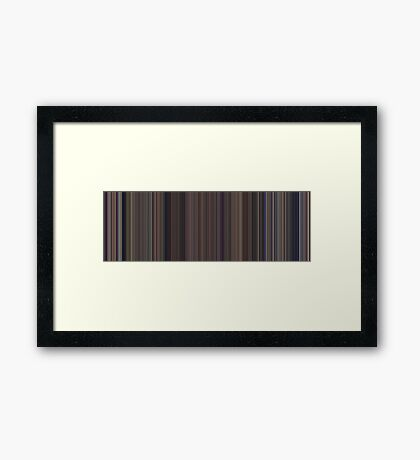 Moviebarcode: Snow White and the Seven Dwarfs (1937) [Simplified Colors] Framed Print