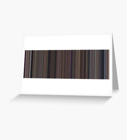 Moviebarcode: Snow White and the Seven Dwarfs (1937) [Simplified Colors] Greeting Card