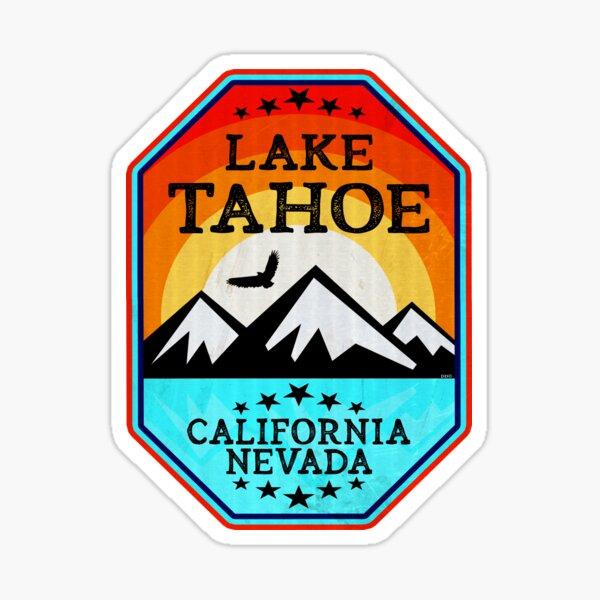 Ski Lake Tahoe California Nevada Skiing Mountain Sunrise Sticker