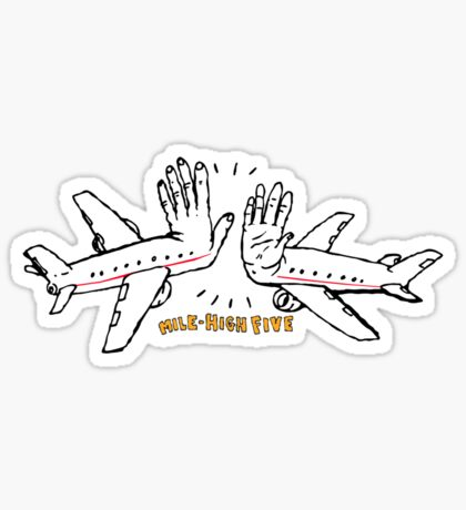 Mile-High-Five Sticker