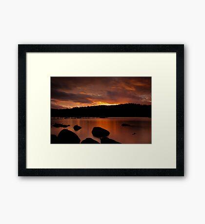 Norfolk Bay Sunset Framed Print
