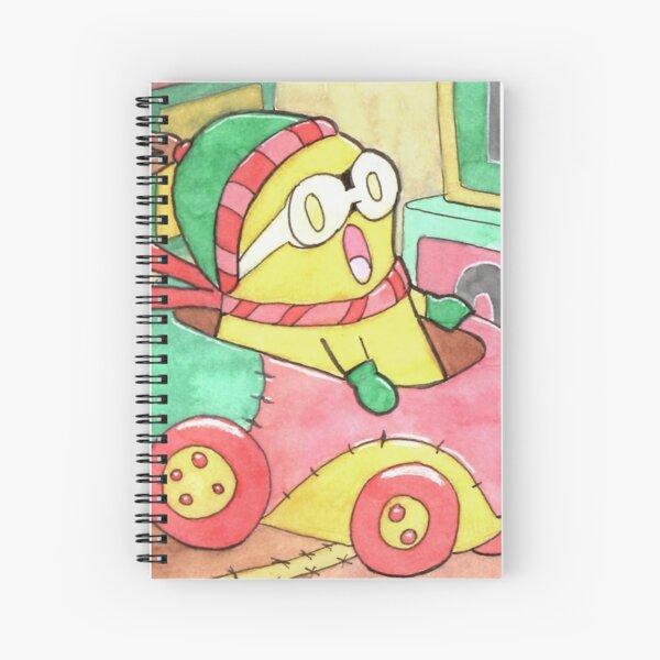 Stitched Kart Racing Spiral Notebook