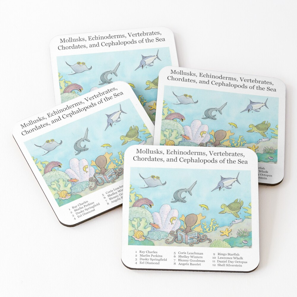 Go Fish! Coasters (Set of 4)