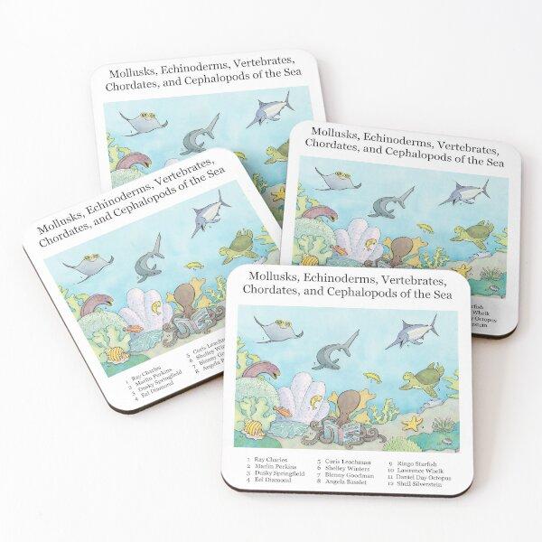 Go Fish! Coasters (Set of 4)