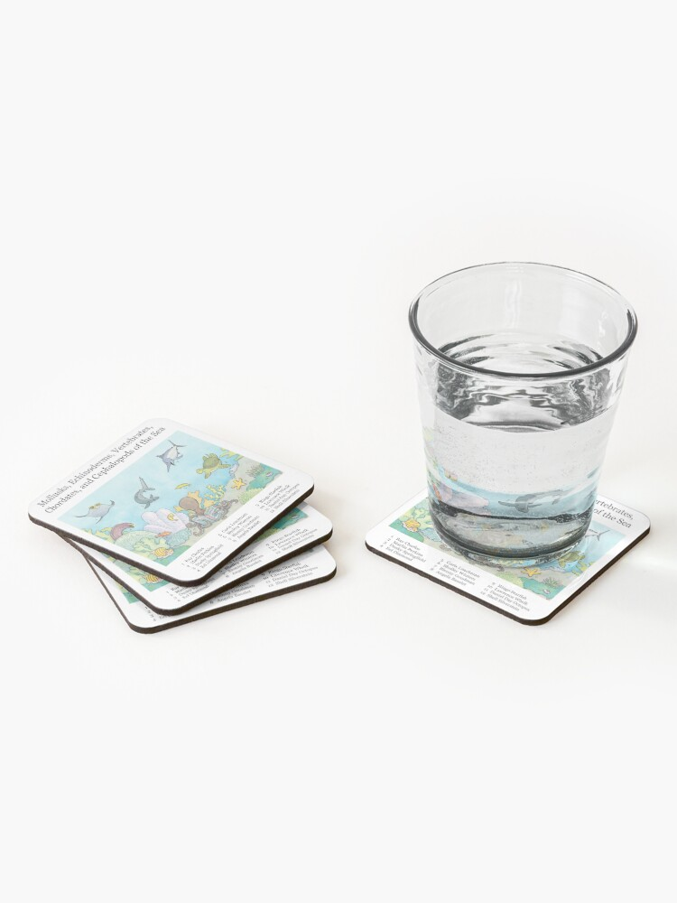 Alternate view of Go Fish! Coasters (Set of 4)
