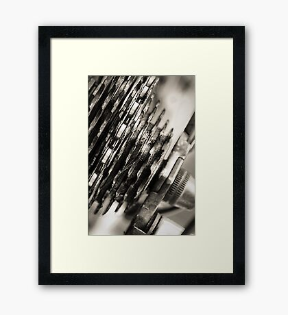 Its all about the bike Framed Print