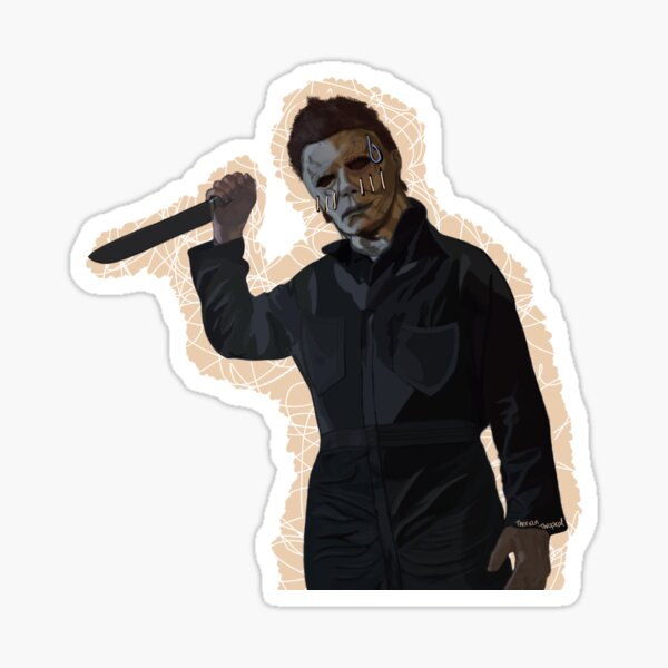 Michael Myers Halloween Slasher Single Design Sticker