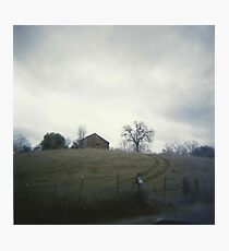 the house on the hill. Photographic Print