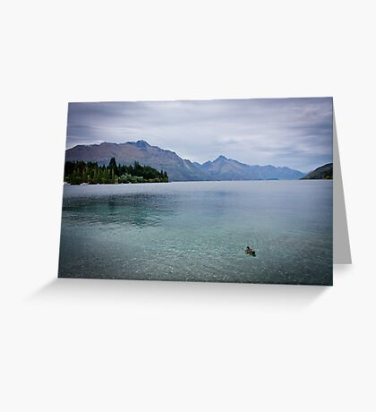 { calm mountain lake } Greeting Card