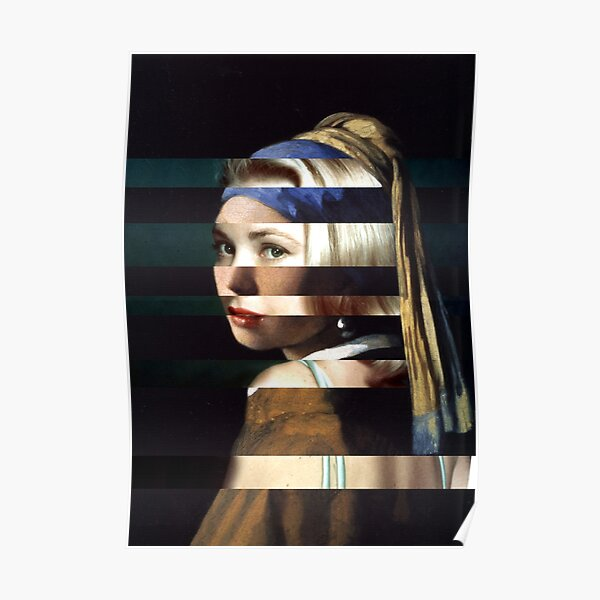 Girl with a Pearl Earring by Vermeer and Grace Kelly Poster