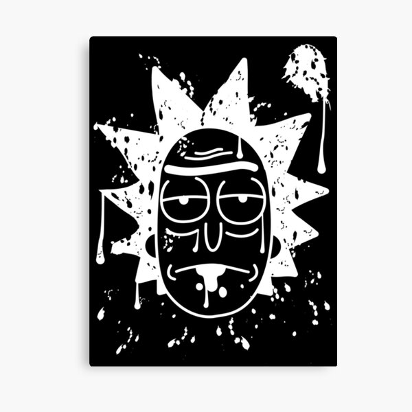 Dripping Rick Sanchez White Canvas Print
