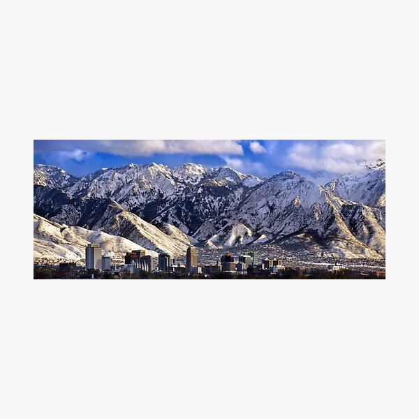 Salt Lake City - Panorama Photographic Print
