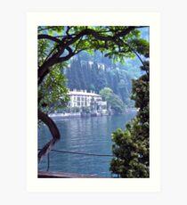 Villa Monastero, Varenna, Lake Como, Italy. Art Print