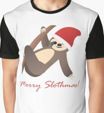 Merry Slothmas Graphic T-Shirt