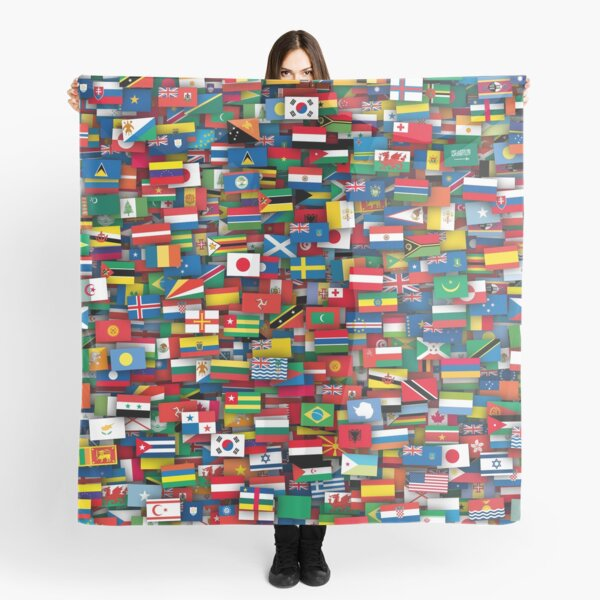 Flags of all countries of the world Scarf