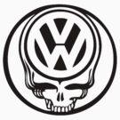VW Dead Head black by thatstickerguy