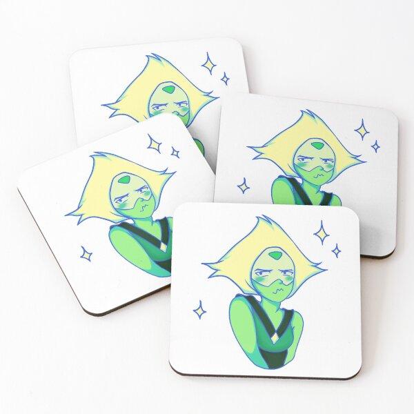 Shy Peridot Coasters (Set of 4)