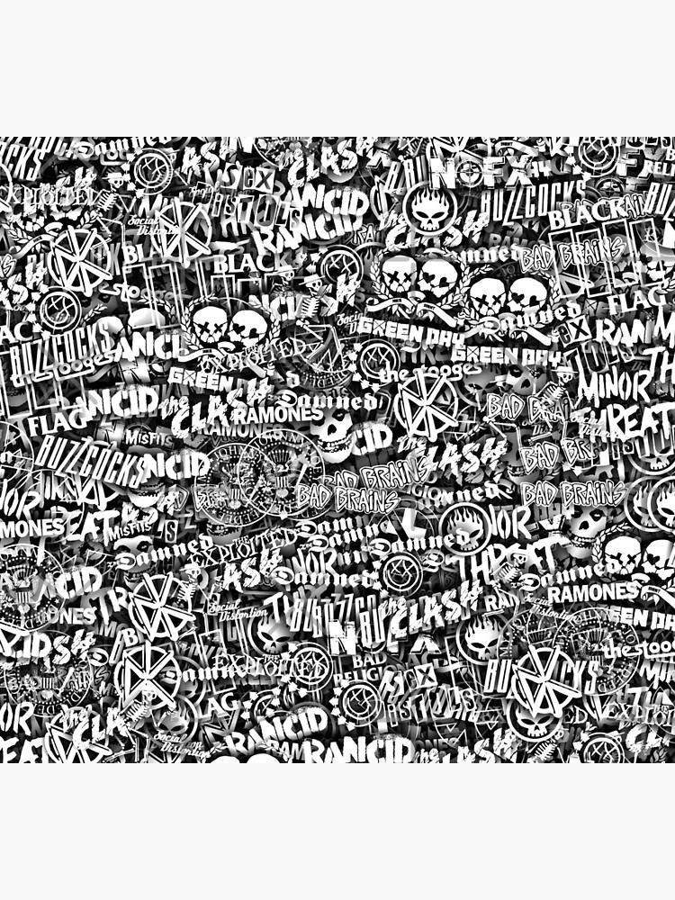 Punk-Rock bands. Stickerbombing by dima-v