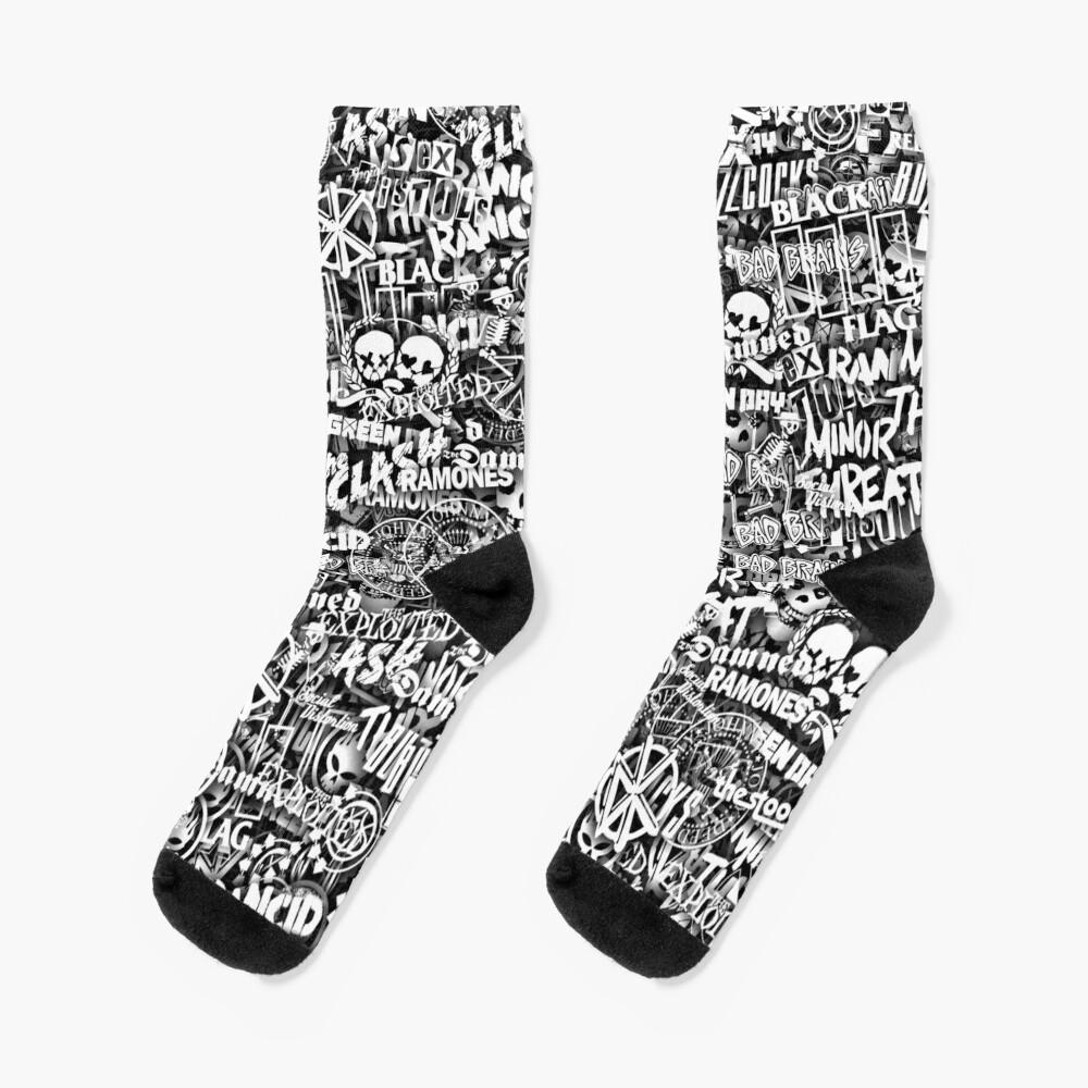 Punk-Rock bands. Stickerbombing Socks