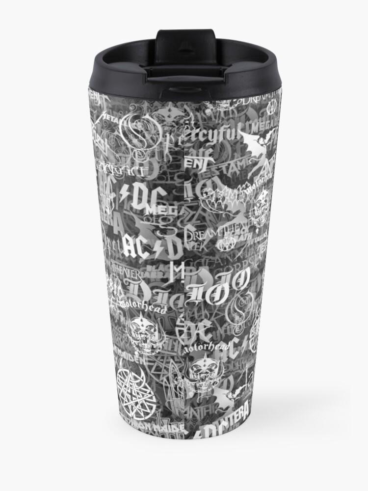 Alternate view of Heavy metal bands Travel Mug