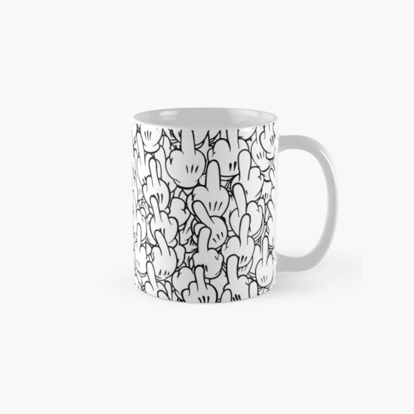 Middle fingers of Mickey Mouse Classic Mug
