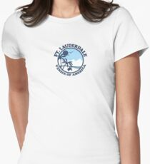 Fort Lauderdale. Women's Fitted T-Shirt