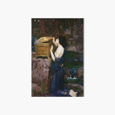 Pandora - John William Waterhouse Art Board Print
