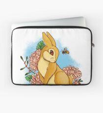 Rabbit and Flowers Laptop Sleeve