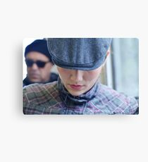 Hat, cap, and lips Canvas Print
