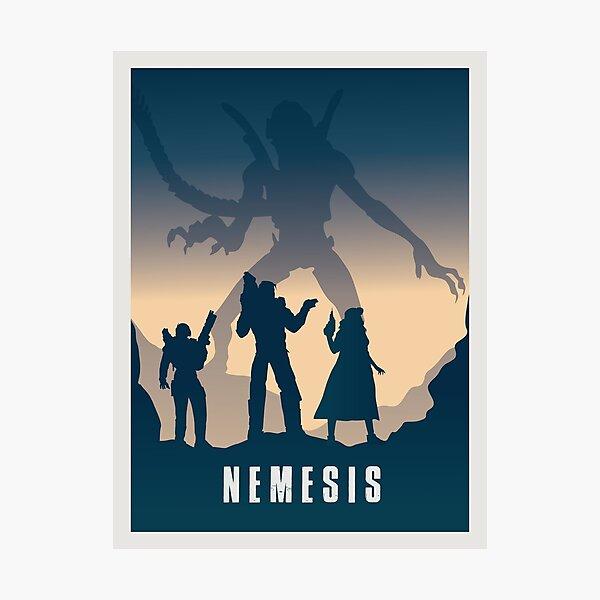 Nemesis Board Game- Minimalist Travel Poster Style - Gaming Art Photographic Print