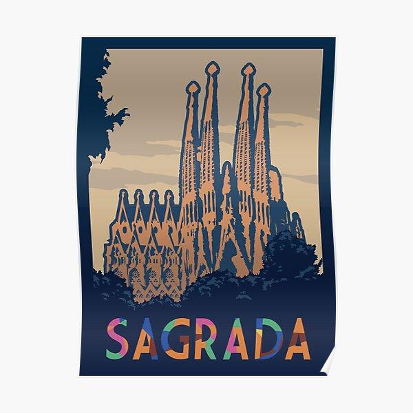 Sagrada Board Game- Minimalist Travel Poster Style - Gaming Art Poster