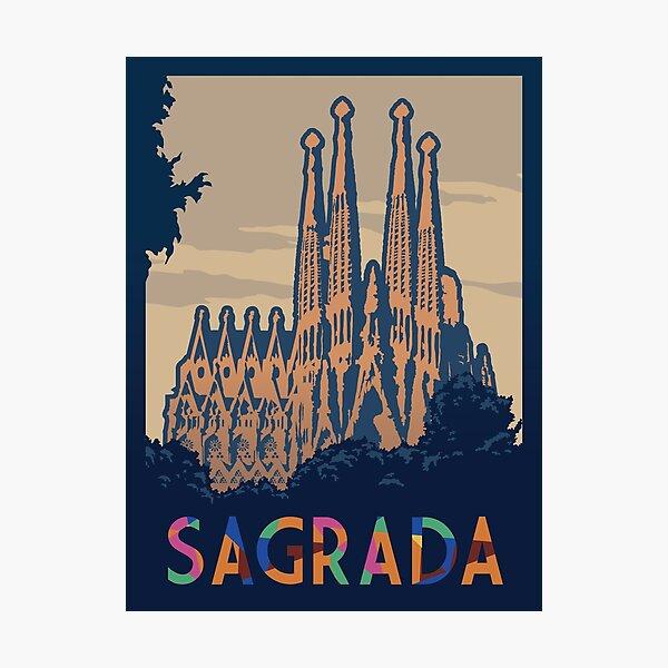Sagrada Board Game- Minimalist Travel Poster Style - Gaming Art Photographic Print