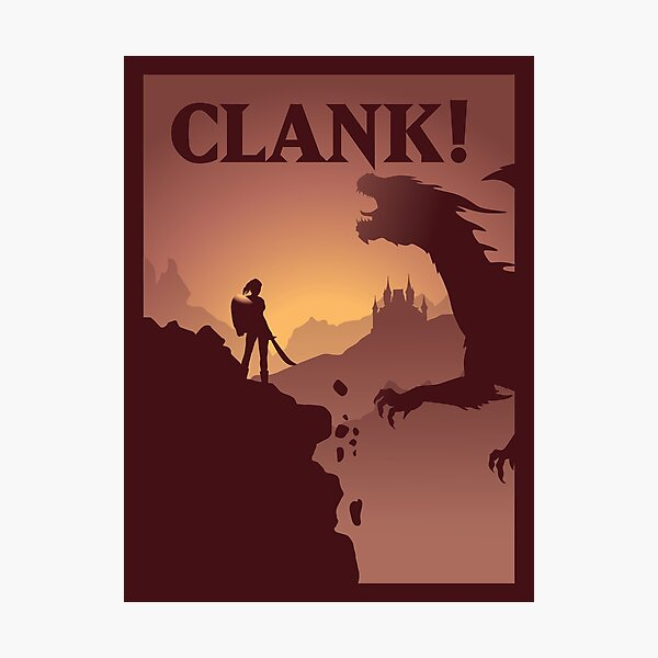 Clank Board Game- Minimalist Travel Poster Style - Gaming Art Photographic Print