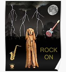 The Scream World Tour  Scream Rocks Rock on Poster