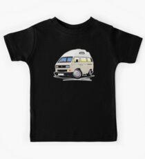 VW T25 / T3 [SQ] (High Top) White Kids Tee