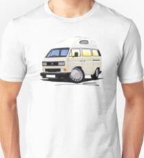 VW T25 / T3 [SQ] (High Top) White Unisex T-Shirt