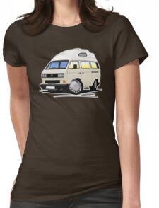 VW T25 / T3 [SQ] (High Top) White Womens Fitted T-Shirt