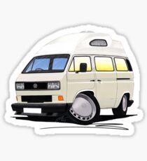 VW T25 / T3 [SQ] (High Top) White Sticker