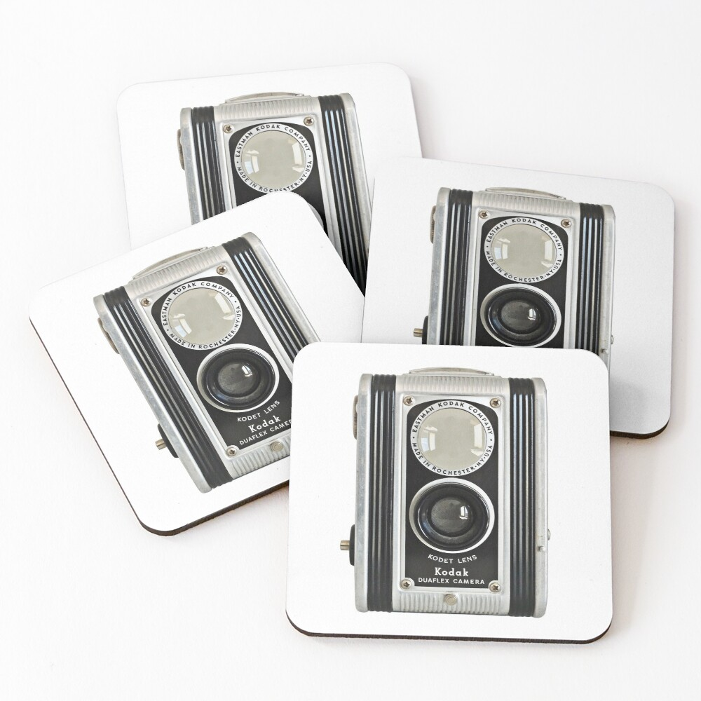 Kodak Duaflex Vintage Camera Coasters (Set of 4)