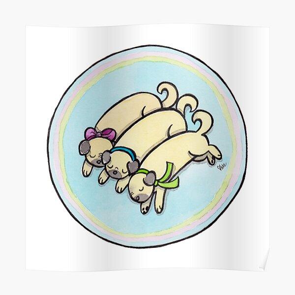Snug as a Pug on a Rug Poster