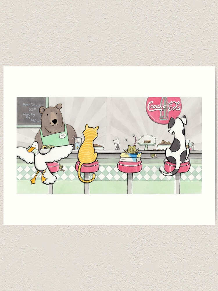 Alternate view of Diner Art Print