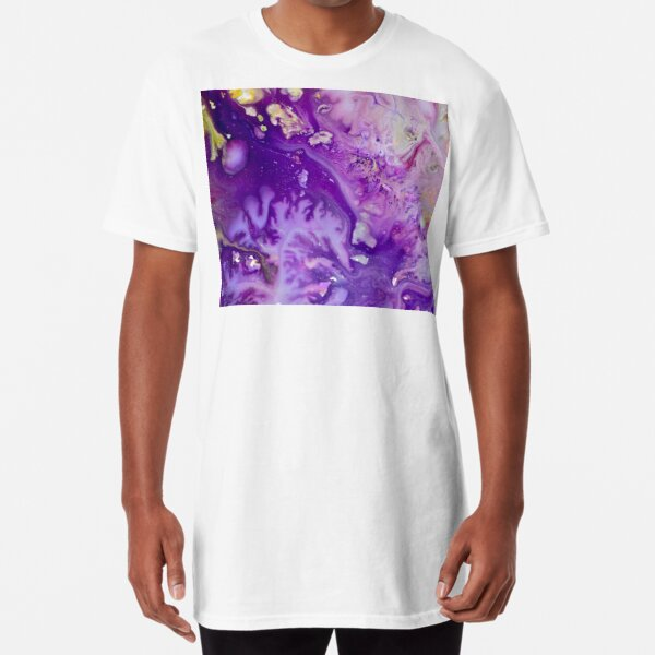 Crisp purple winter Long T-Shirt
