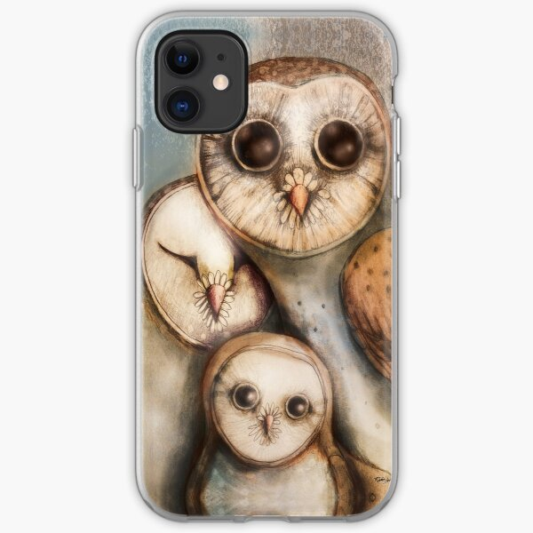 three wise owls iPhone Soft Case