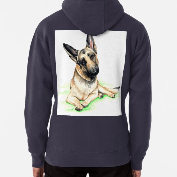Handsome German Shepherd Pullover Hoodie