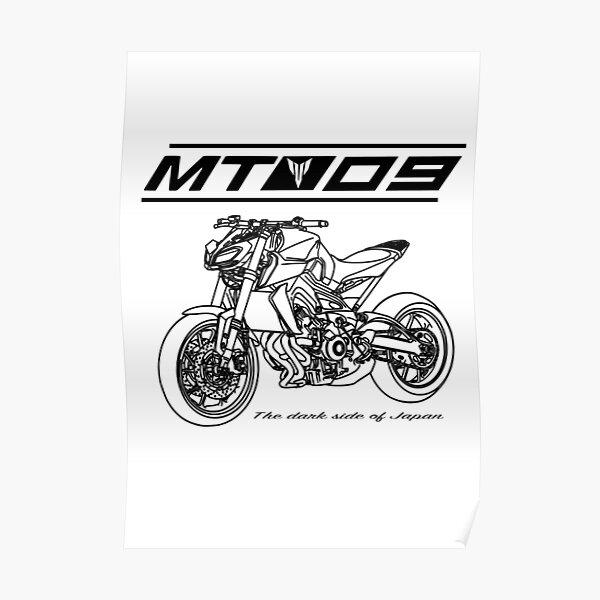 Yamaha MT 09 Custom Design - Noir Poster