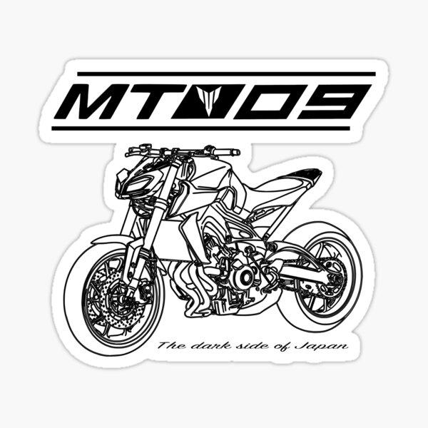 Yamaha MT-09 master tork fuel tank stickers M950