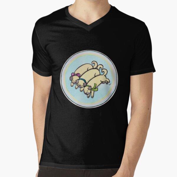 Snug as a Pug on a Rug V-Neck T-Shirt